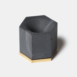 MONSTERPILL pen holder _ black marble