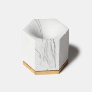MONSTERPILL pen holder _ white marble