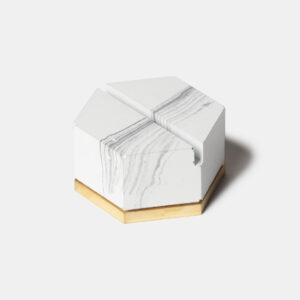 MONSTERPILL card holder _ white marble